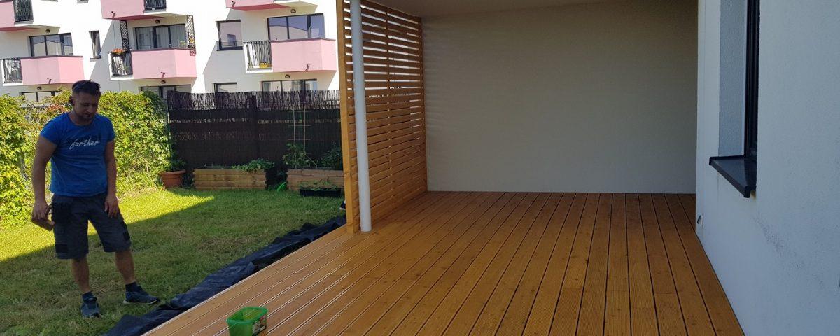 Malowanie tarasu drewnianego