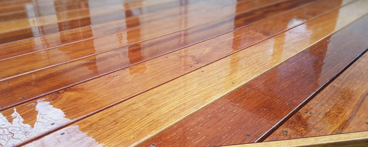 Drewniany taras merbau